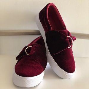 ASOS Velvet Slippers on Sneakers